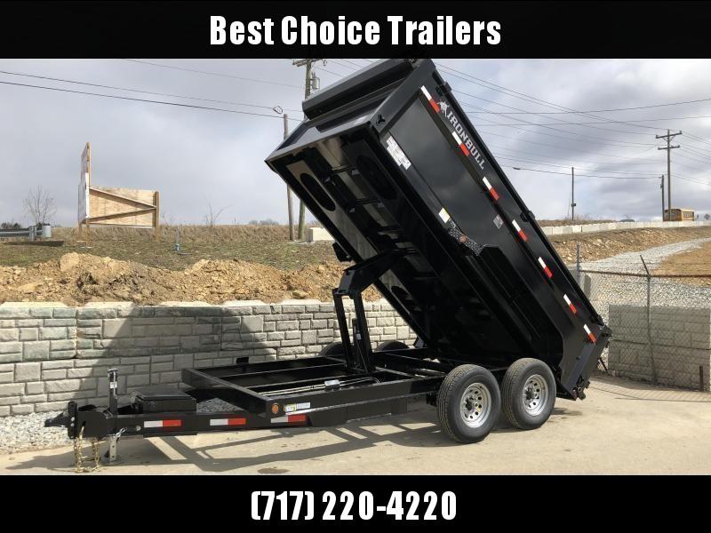 2020 Ironbull 7x14' 3' HIGH SIDES Dump Trailer 14000# GVW * 12K JACK * 7 GA FLOOR * RAMPS * TARP * SCISSOR * SPARE MT