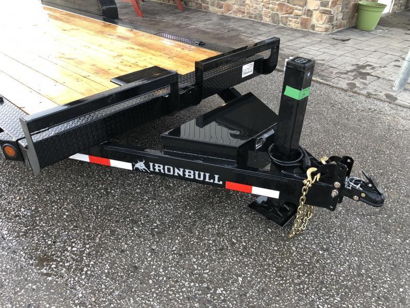 2019 Ironbull 7x20' POWER Tilt Equipment Trailer 14000# GVW * POWER TILT * 12K JACK * WINCH PLATE * TORSION * CLEARANCE