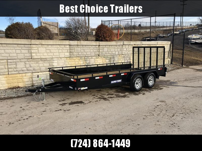 2020 Sure-Trac 7x16' Steel High Side Utility Trailer 7000# GVW