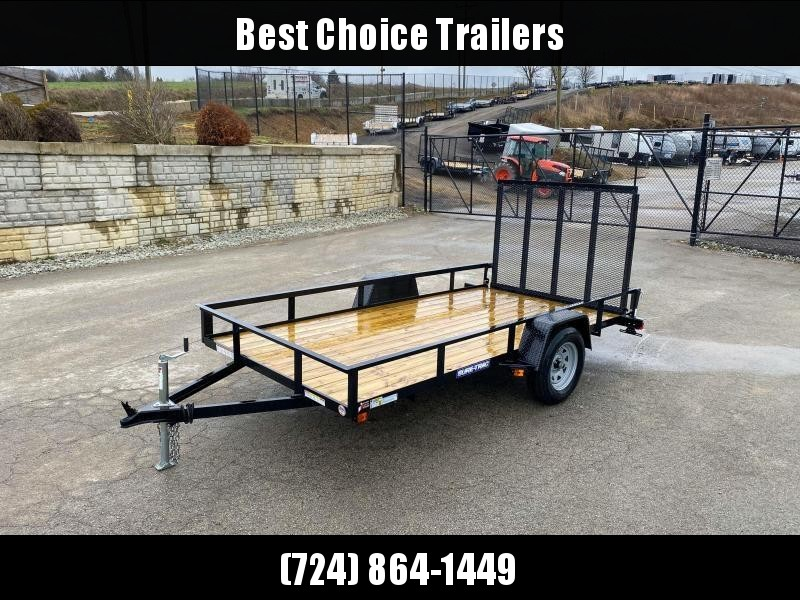 """2020 Sure-Trac 6x10' Utility Landscape Trailer 2990# GVW * 2X2"""" TUBE GATE C/M + FOLD FLAT * TOOLESS GATE REMOVAL * CHANNEL TONGUE * REAR BOARD RETAINER * HD FENDERS * ZINC JACK * RADIAL TIRES * POWDERCOATED"""