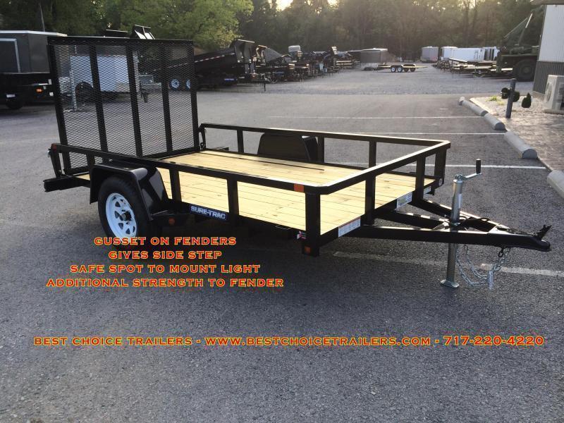 2020 Sure-Trac 7x16' Tube Top Three Board High Side Landscape Utility Trailer 7000# GVW