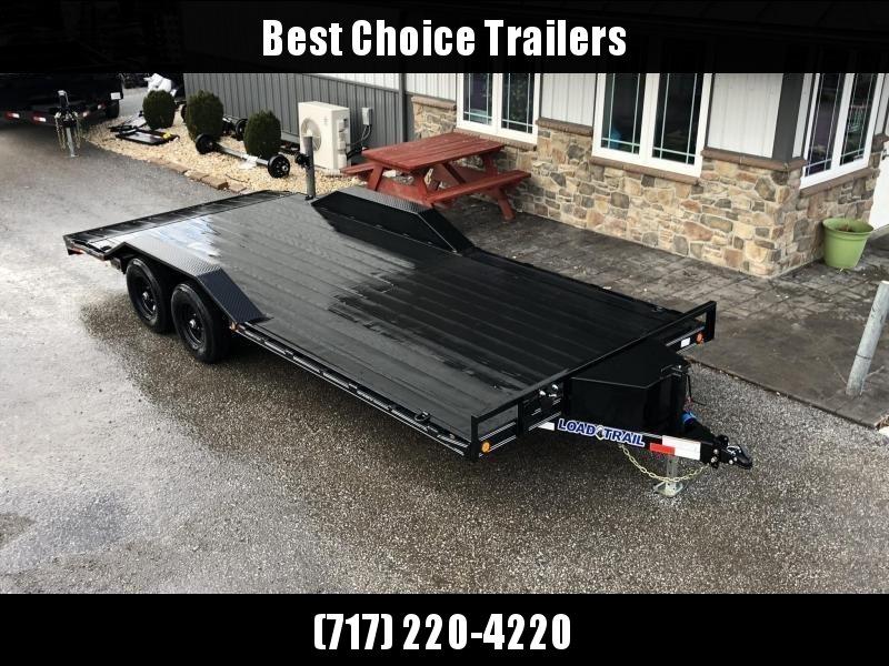 "2020 Load Trail 102x20' Car Hauler Trailer 9990# GVW * DEXTERS * BLACKWOOD PRO * TOOLBOX * POWDER PRIMER * BLACKOUT * 2-3-2 WARRANTY * CHANNEL C/M * 102"" DECK * DRIVE OVER FENDERS * ADJUSTABLE COUPLER * 7K JACK * RUBRAIL/STAKE POCKETS/D-RINGS"