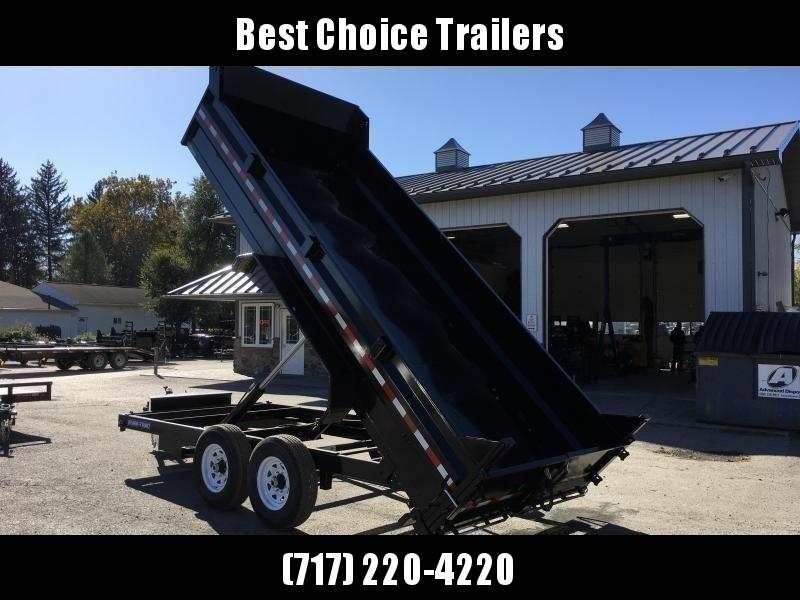 "2020 Sure-Trac 7x16' Dump Trailer 14000# GVW * OVERSIZE 6"" SCISSOR HOIST * FRONT/REAR BULKHEAD * INTEGRATED KEYWAY * 2' SIDES * UNDERBODY TOOL TRAY * ADJUSTABLE COUPLER * 110V CHARGER * UNDERMOUNT RAMPS * COMBO GATE * 7K JACK * SPARE MOUNT"