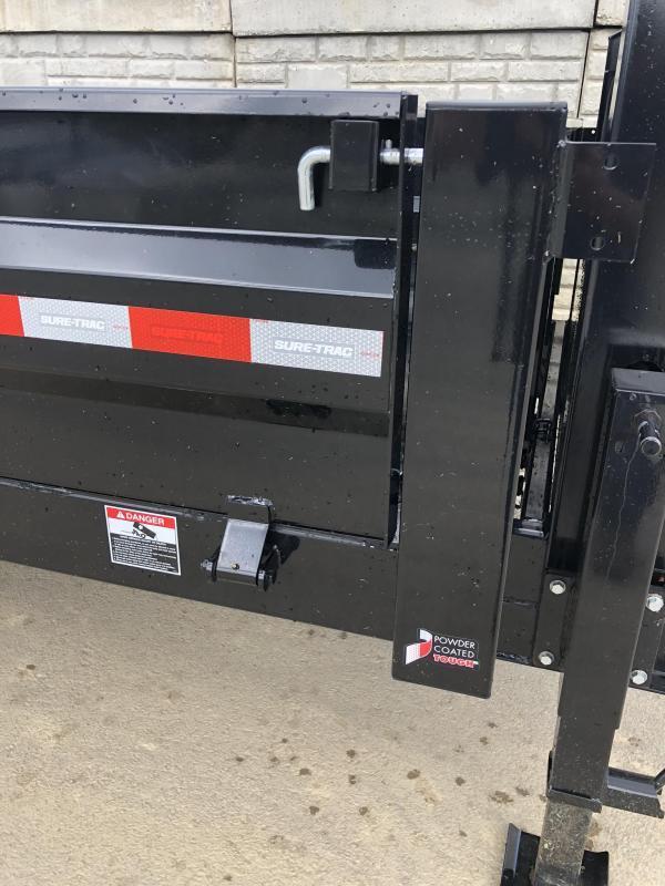 2019 Sure-Trac 8x16' HD Gooseneck Deckover Dump Trailer 16000# GVW * 8000# AXLE UPGRADE * FOLD DOWN SIDES * CLEARANCE