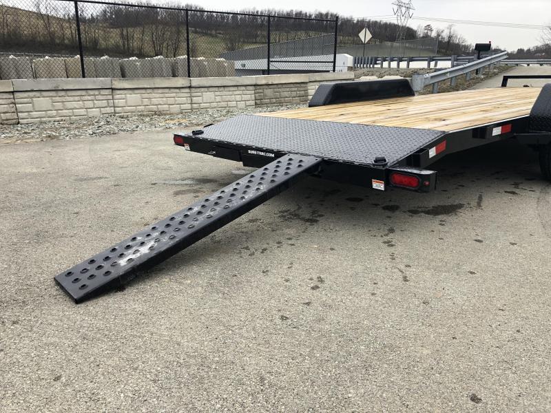 2019 Sure Trac 7x20' 9900# Wood Deck Car Hauler * REAR SLIDE IN RAMPS * 7000# JACK