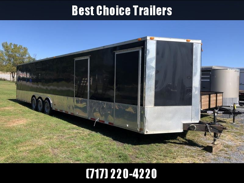USED 2013 Hurricane 8.5x36' Enclosed Car Hauler Trailer 15000# GVW * SCREWLESS * ANODIZED * TRIPLE AXLE * 1PC ROOF * TUBE