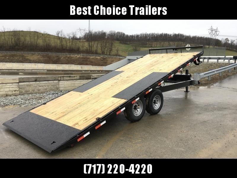 """2020 Ironbull 102""""x24' Deckover Power Tilt Trailer 14000# GVW"""