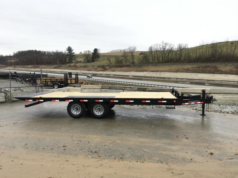 """2020 Ironbull 102x24' Deckover Power Tilt Trailer 14000# GVW * DUAL PISTON * I-BEAM FRAME * RUBRAIL/STAKE POCKETS/PIPE SPOOLS/D-RINGS/BANJO EYES * 6"""" TUBE BED FRAME * 4X4X1/4 WALL TUBE BED RUNNERS (12#/') * DEXTER'S * 2-3-2 WARRANTY"""