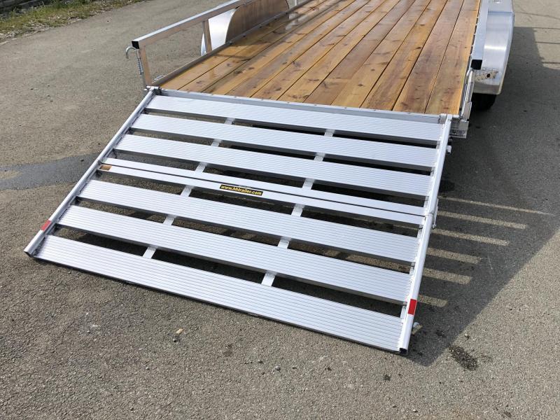 2020 H&H 7x16' TRSA Aluminum Utility Landscape Trailer 7000# GVW * ALUMINUM WHEELS * BI-FOLD GATE