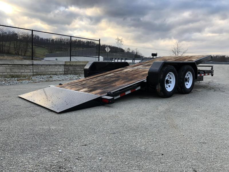 2020 Sure-Trac 7x18 Tilt Bed Equipment Trailer 9900# GVW * OAK DECK