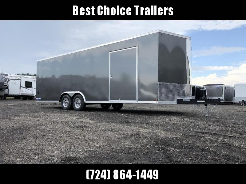 2020 Sure-Trac 8.5x20' Enclosed Car Trailer 9900# GVW * CHARCOAL * 7K DROP LEG JACK * SCREWLESS * ALUMINUM WHEELS