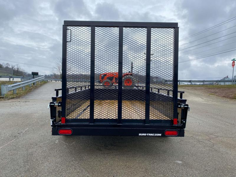 """2020 Sure-Trac 5x10' Solid Side Utility Landscape Trailer 2990# GVW * 2X2"""" TUBE GATE C/M + SPRING ASSIST * FOLD FLAT GATE * TOOLESS GATE REMOVAL * SPARE MOUNT * PROTECTED WIRING * SET BACK JACK * TRIPLE TUBE TONGUE * HD FENDERS * TUBE BUMPER * HIGH SIDE"""