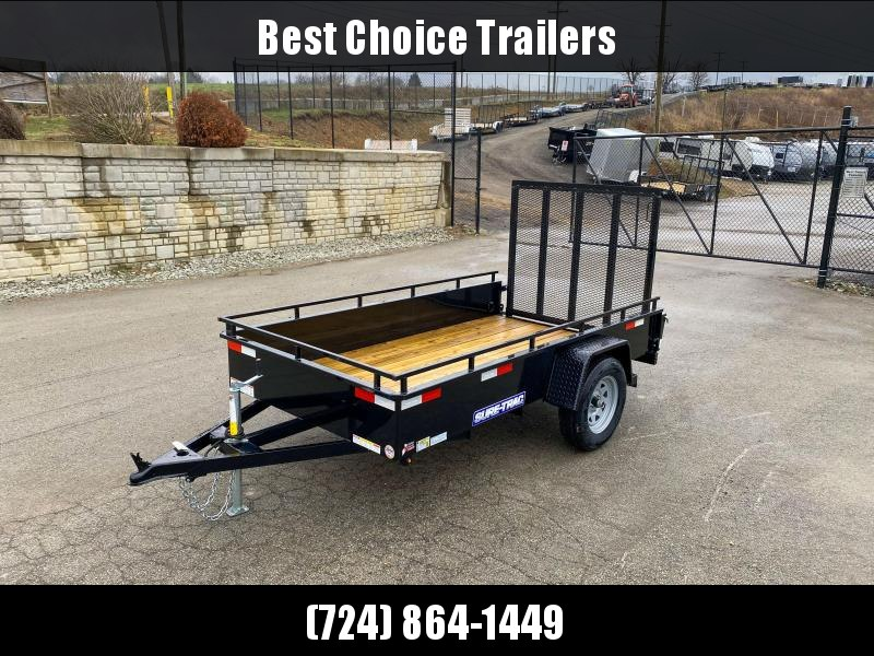 "2020 Sure-Trac 5x10' Solid Side Utility Landscape Trailer 2990# GVW * 2X2"" TUBE GATE C/M + SPRING ASSIST * FOLD FLAT GATE * TOOLESS GATE REMOVAL * SPARE MOUNT * PROTECTED WIRING * SET BACK JACK * TRIPLE TUBE TONGUE * HD FENDERS * TUBE BUMPER * HIGH SIDE"