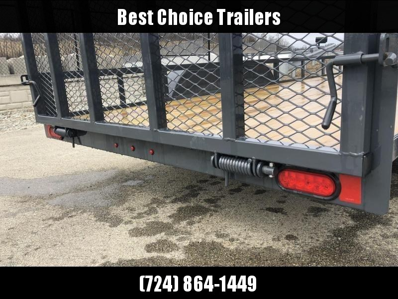 2019 Lamar 7'x16' Utility Landscape Trailer 7000# GVW * CHARCOAL * HD GATE W/ SPRING ASSIST
