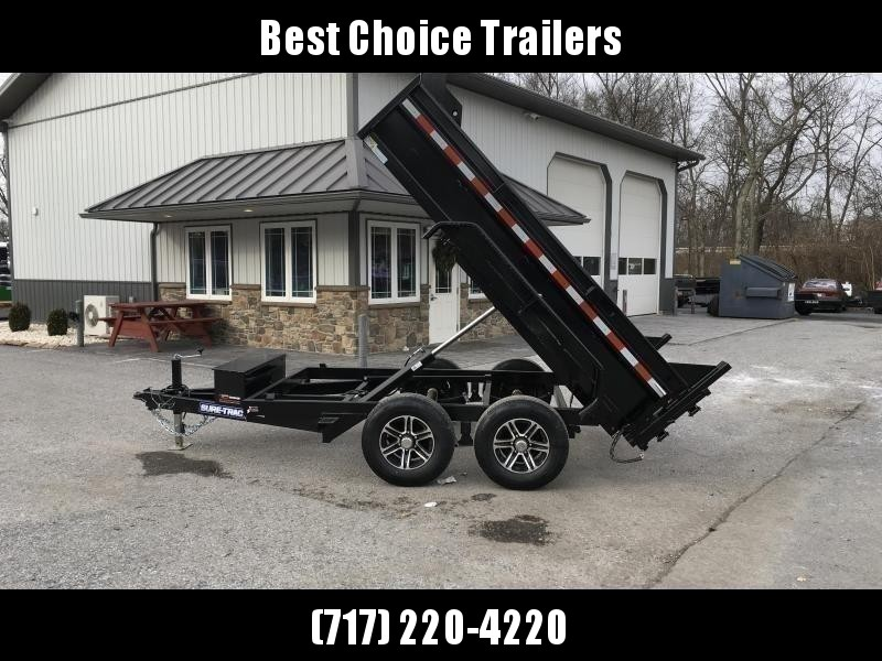 2020 Sure-Trac 6x10' LP Dump Trailer 9900# GVW DROP LEG JACK UNDERMOUNT RAMPS COMBO GATE