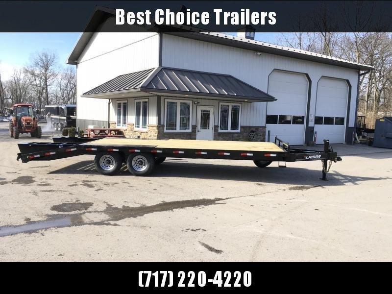 """2020 Lamar 102x24' Beavertail Deckover Trailer 14000# GVW * FLIPOVER RAMPS + SPRING ASSIST  * CHARCOAL * TOOL TRAY * HD COUPLER * I-BEAM FRAME * 16"""" O.C. C/M * RUBRAIL/STAKE POCKETS/PIPE SPOOLS * CHANNEL SIDE RAIL * 4X8"""" TUBE BUMPER"""