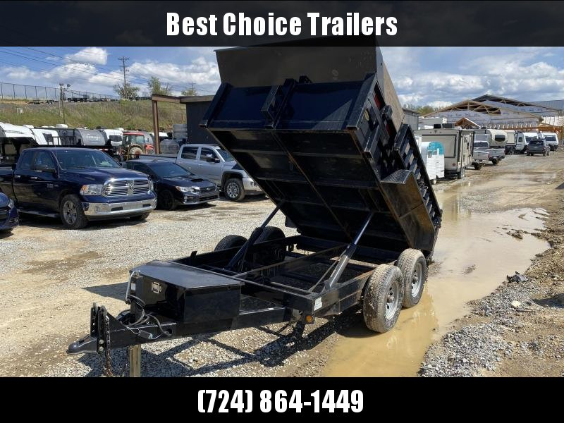 USED 2016 Griffin 6X10' 9990# GVW Dump Trailer * DUAL RAM HOIST * RAMPS * ADJUSTABLE COUPLER * BULKHEAD * COMBO GATE *
