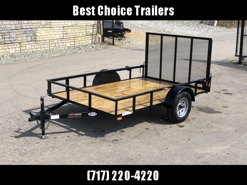 """2020 AMO 78x10' Utility Landscape Trailer 2990# GVW * 4' GATE * TOOLESS GATE REMOVAL * 3500# AXLE * 15"""" RADIAL TIRES"""