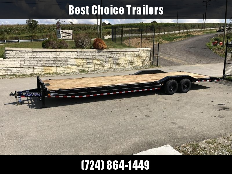 "2020 Load Trail 102x32' Equipment Trailer 14000# GVW * 102"" DECK * DRIVE OVER FENDERS * 8"" TONGUE AND FRAME * DUAL JACKS * SLIDE IN RAMPS * RUBRAIL * DEXTER'S * 2-3-2 * ZINC PRIMER"