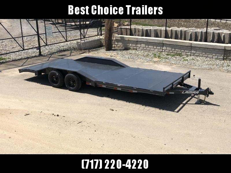"2020 Lamar 102x20' Buggy Hauler Car Trailer 9990# GVW * 102"" DECK * DRIVE OVER FENDERS * 11GA STEEL DECK * CHARCOAL POWDERCOATING * 7K DROP LEG JACK * CHANNEL C/M * ADJUSTABLE COUPLER * RUBRAIL"