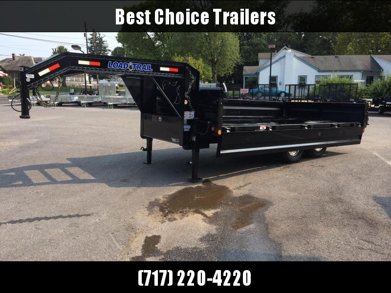 "2020 Load Trail 8x16' Gooseneck Deckover Dump Trailer 14000# GVW * DUAL 12K JACKS * FULL TOOLBOX * 10"" I-BEAM FRAME * TARP KIT * 5X20 SCISSOR HOIST * FOLD DOWN SIDES * 3-WAY GATE * 6"" TUBE BED FRAME * 10GA SIDES/FLOOR * INTEGRATED KEYWAY * PRIMER"