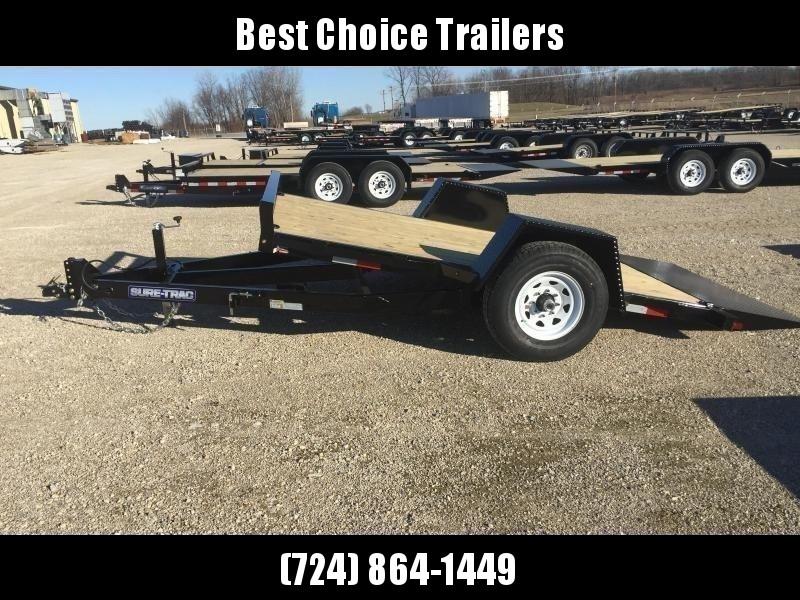 "2020 Sure-Trac 78""x12' 7000# GVW Tilt Equipment Trailer Scissor Hauler * OAK DECK * TOOLBOX"