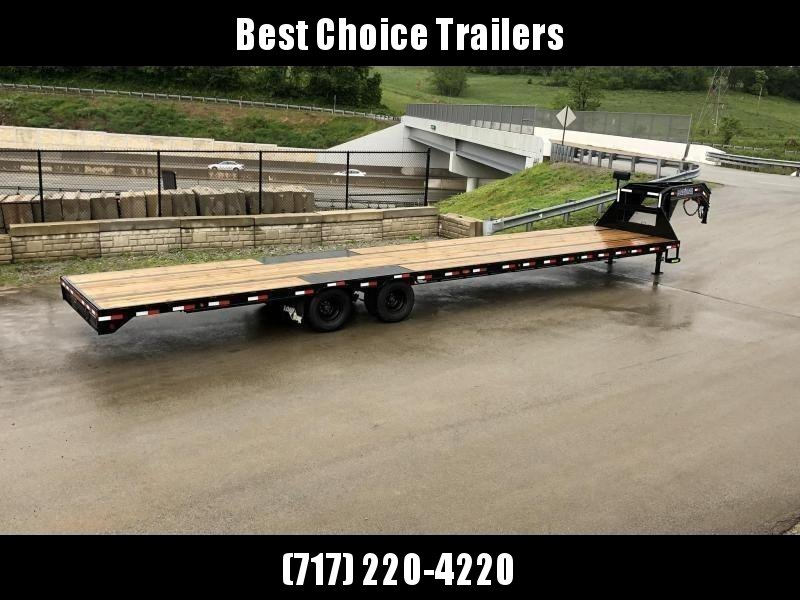 2020 Load Trail 102x40' Gooseneck Flatbed Deckover Trailer 25990# GVW * HOTSHOT TRAILER * 12K DEXTER AXLES * EOH DISC BRAKES * STRAIGHT DECK W 8' SLIDE IN RAMPS * HDSS SUSPENSION * UNDER FRAME BRIDGE * TORQUE TUBE * WINCH PLATE * PRIMER * 2-3-2 WARRANTY