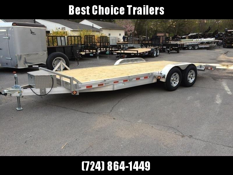 2020 QSA 7x20' Aluminum Car Trailer 9850# GVW