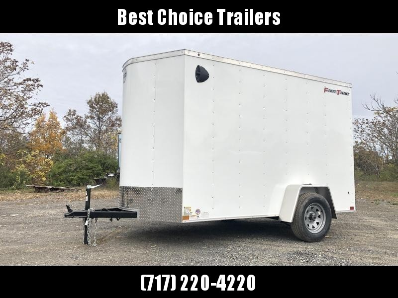 2020 Wells Cargo 6x12' Fastrac Enclosed Cargo Trailer 2990# GVW * WHITE EXTERIOR * RAMP DOOR