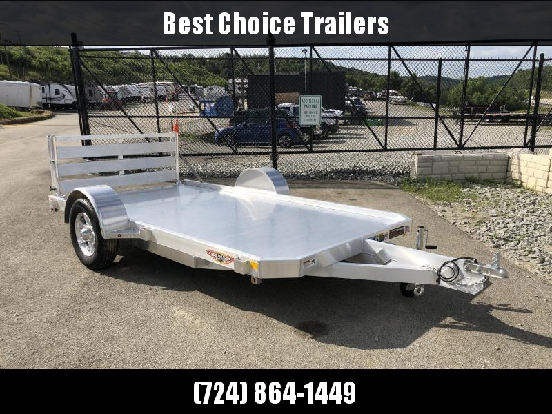 "2020 H&H 76x12' Aluminum Utility Landscape Trailer 2990# GVW * EXTRUDED ALUMINUM FLOOR * BI FOLD GATE * ALUMINUM WHEELS * TRIPLE TUBE TONGUE * TUBE TONGUE * SWIVEL JACKS * STAKE POCKETS * EXTENDED 54"" GATE"