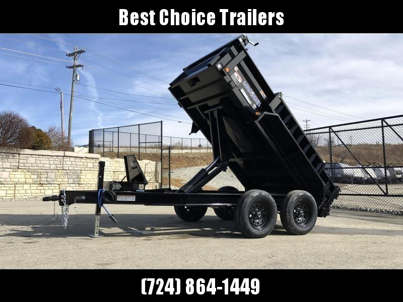 "2019 Load Trail 5X10' Dump Trailer 7000# GVW * DT6010032 * 3-WAY GATE * I-BEAM FRAME * TARP KIT * SCISSOR HOIST * 4"" TUBE BED FRAME * 110V CHARGER * DEXTER'S * 2-3-2 * POWDER PRIMER * CLEARANCE"
