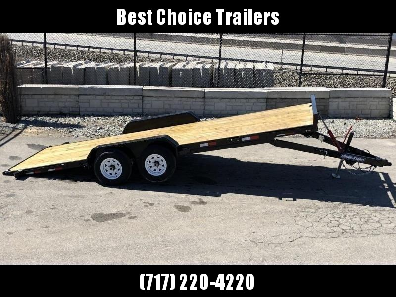 2020 Sure Trac 7x18' 7000# Manual Tilt Car Trailer * ST8218CHWT-B-070
