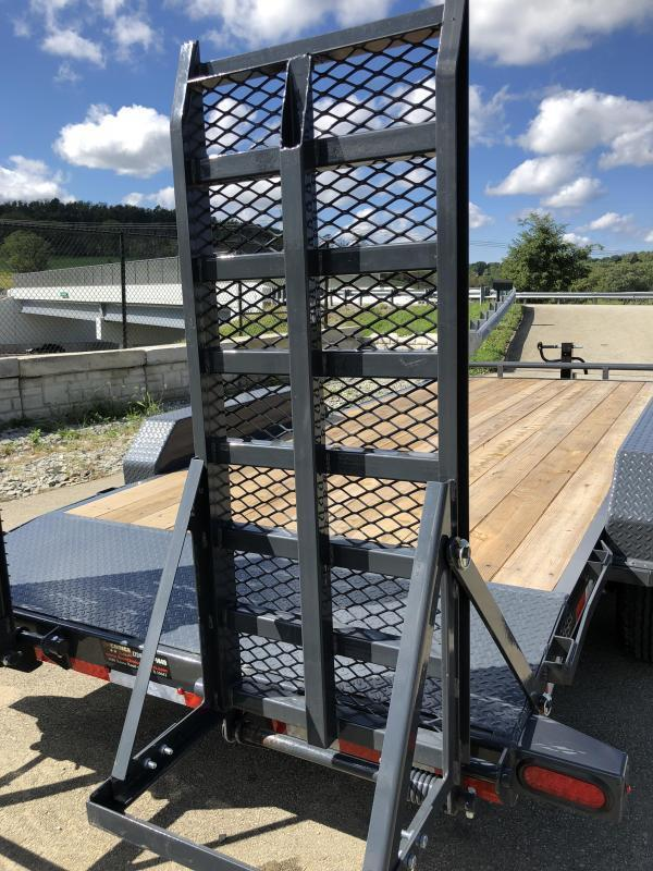2020 Lamar 7x18' H6 Equipment Trailer 14000# GVW * DELUXE RAMPS * CHARCOAL POWDERCOAT