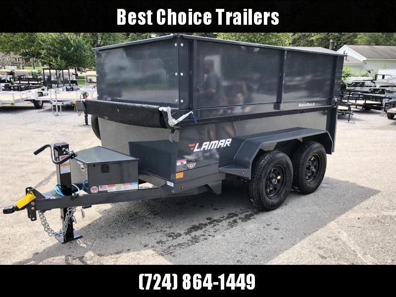 2019 Lamar 5x10' DS60 Dump Trailer 7000# GVW DELUXE * 2' SOLID EXTENSIONS* 12K JACK * RAMPS * TARP * SPARE TIRE * SPARE MOUNT