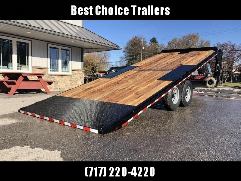 "2020 Sure-Trac 102x22' Power Tilt Deckover 15000# GVW * WINCH PLATE * OAK DECK UPGRADE * DUAL PISTON * 10"" I-BEAM MAINFRAME * 6"" TUBE SIDE RAIL * RUBRAIL/STAKE POCKETS/PIPE SPOOLS/8 D-RINGS * LOW LOAD ANGLE"