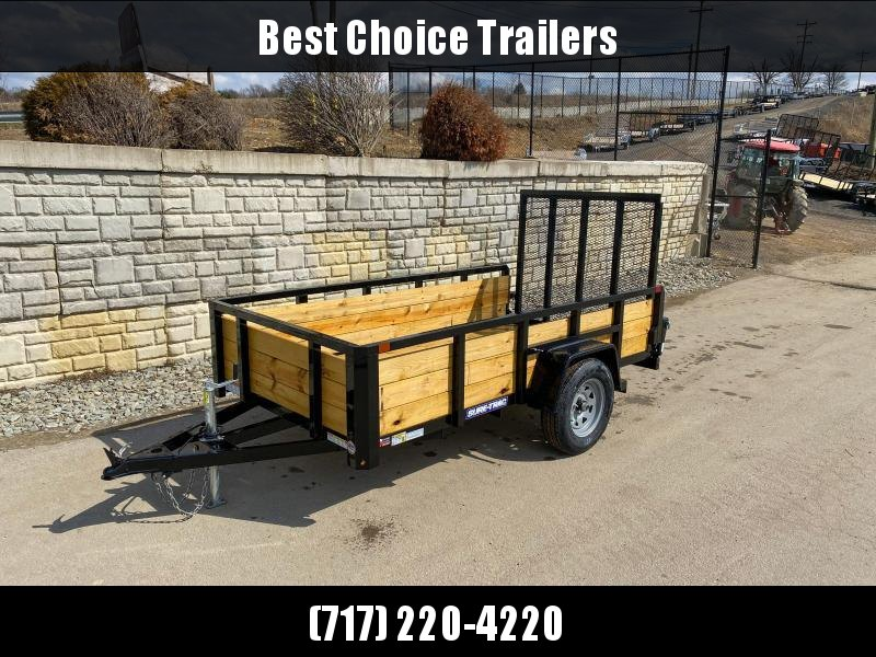 "2020 Sure-Trac 5x10' High Side Utility Landscape Trailer 2990# GVW * 24"" 3-BOARD HIGH SIDE * 2"" TUBE TOP RAIL * 2X2"" TUBE GATE C/M + SPRING ASSIST + FOLD FLAT * TOOLESS GATE REMOVAL * SPARE MOUNT * PROTECTED WIRING * SET BACK JACK * TRIPLE TUBE TONGUE * D"