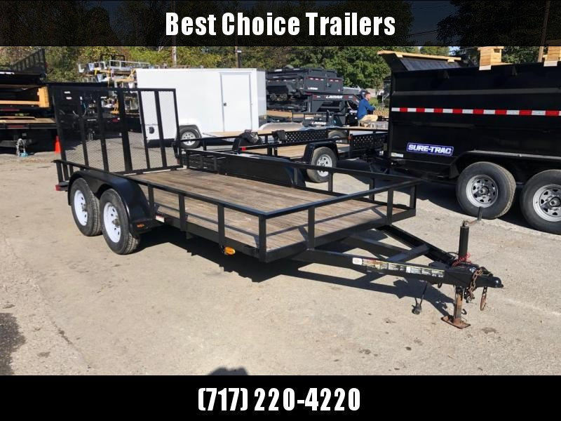 USED 2013 Carry-On 7x16' Utility Landscape Trailer 7000# GVW * SPLIT GATE