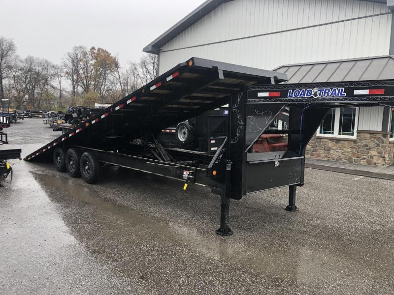 2020 Load Trail 102x30' Gooseneck Deckover Power Tilt Flatbed Trailer 21000# GVW * GE0230073 * HYDRAULIC JACKS * SCISSOR * I-BEAM BEDFRAME * SIDE TOOLBOX * WINCH PLATE