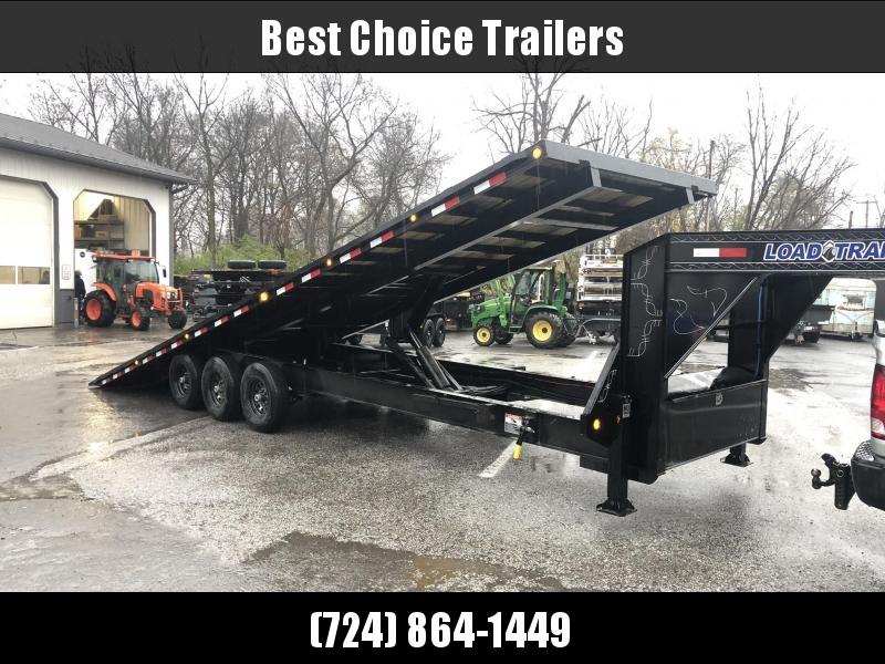 2020 Load Trail 102x30' Gooseneck Deckover Power Tilt Flatbed Trailer 21000# GVW * GE0230073 * HYDRAULIC JACKS * SCISSOR * I-BEAM BEDFRAME * SIDE TOOLBOX * WINCH PLATE