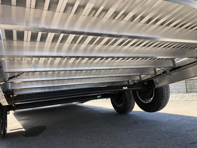 2020 H&H 7x22' Aluminum Power Tilt Equipment Trailer 14000# GVW * DELUXE * TORSION * ROCK GUARD * EXTRUDED FLOOR *  4 SWIVEL D-RINGS * TOOLBOX * LOADED