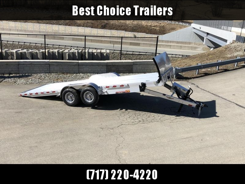 2020 H&H 7x22' Aluminum Power Tilt Equipment Trailer 14000# GVW * DELUXE * TORSION * ROCK GUARD * EXTRUDED FLOOR *  4 SWIVEL D-RINGS * TOOLBOX * LOADED