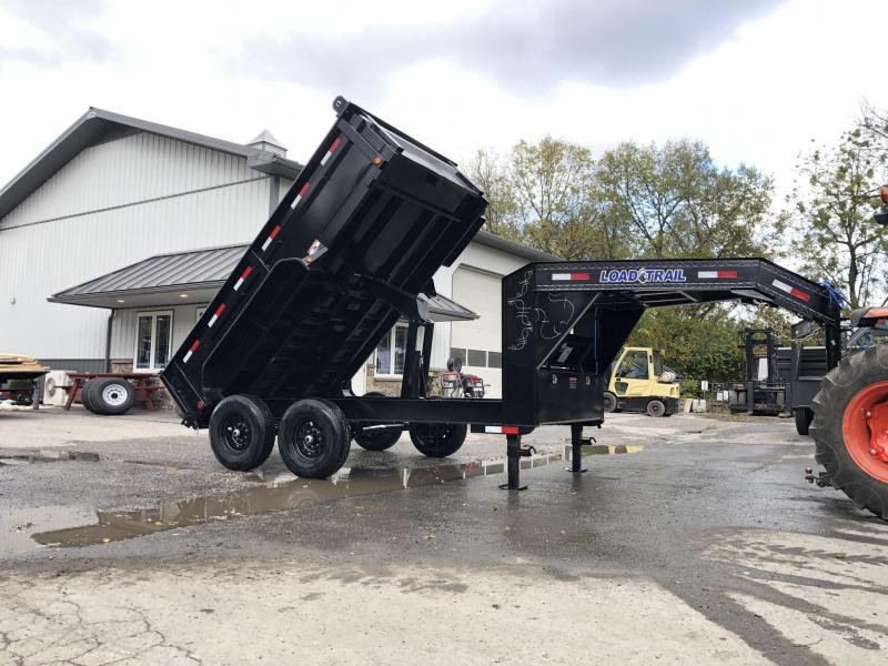 "2019 Load Trail 7x12' Gooseneck Dump Trailer 14000# GVW * GD8312072 * 8"" I-BEAM FRAME * DUAL 12K JACKS * 3-WAY GATE * TARP KIT * SCISSOR HOIST * 10GA 2PC SIDES & FLOOR * 6"" TUBE BED FRAME"