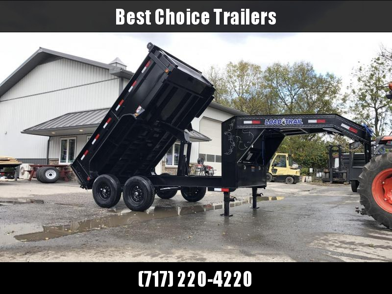 "2020 Load Trail 7x12' Gooseneck Dump Trailer 14000# GVW * GD8312072 * 8"" I-BEAM FRAME * DUAL 12K JACKS * 3-WAY GATE * TARP KIT * SCISSOR HOIST * 10GA 2PC SIDES & FLOOR * 6"" TUBE BED FRAME"