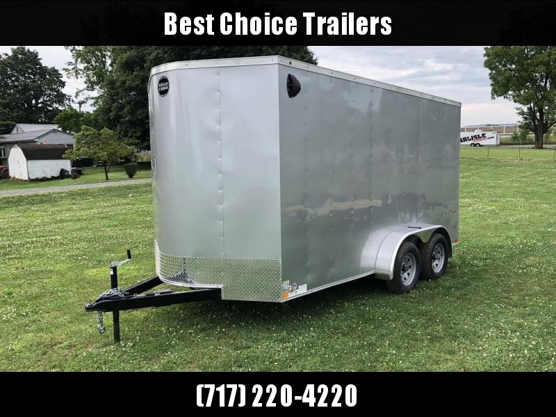 "2020 Wells Cargo 7x14' Fastrac DELUXE Enclosed Cargo Trailer 7000# GVW * SILVER EXTERIOR * RAMP DOOR * V-NOSE * .030 EXTERIOR * 7' HEIGHT - UTV PKG * TUBE STUDS * 3/8"" WALLS * 1 PC ROOF * 16"" O.C. WALLS * BULLET LED'S"