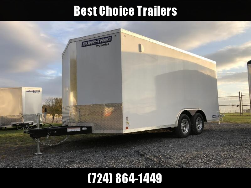 2020 Sure-Trac 8.5x16' Enclosed Cargo Trailer 7000# GVW * WHITE