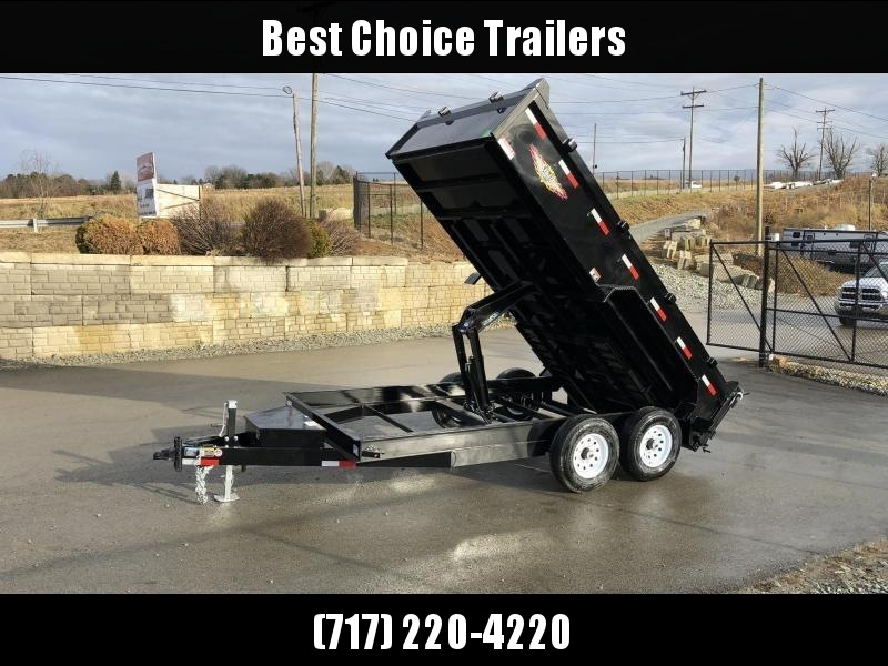 "2019 H&H 7x14' Low Profile Dump Trailer 14000# GVW * 8"" FRAME * SCISSOR HOIST * COMBO GATE * CLEARANCE"