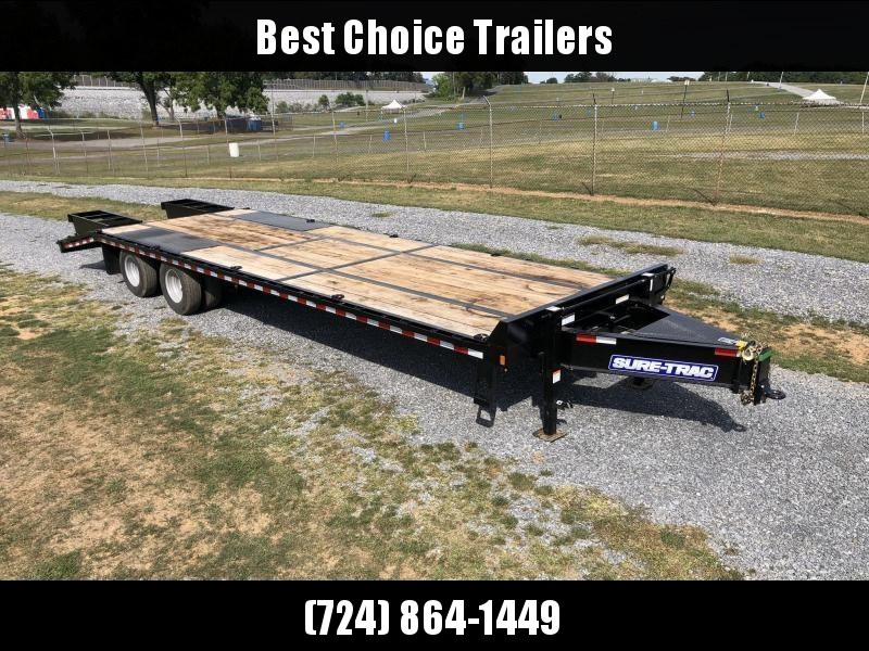 2020 Sure-Trac 102x25+5' HD LowPro Beavertail Deckover 25990# GVW * OAK BEAVERTAIL/OAK DECK/OAK RAMPS * PAVER SPECIAL * 12K AXLES * HUTCH SUSPENSION * DUAL JACKS * MUD FLAPS * EXTRA D-RINGS * INTEGRATED TOOLBOX