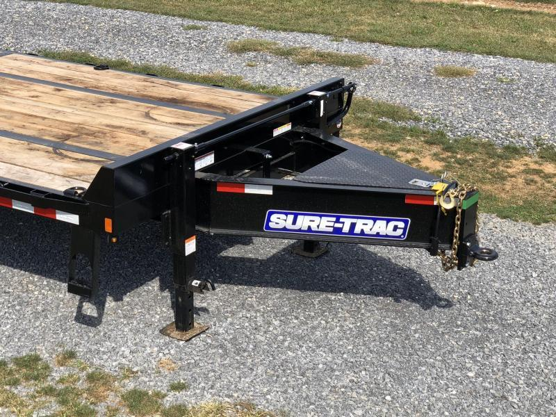 2020 Sure-Trac 102x30' HD Beavertail Deckover Trailer 25900# GVW * PAVER SPECIAL * OAK BEAVERTAIL/DECK/RAMPS * DEXTER 12K AXLES * HUTCH SUSPENSION * DUAL JACKS * MUD FLAPS * EXTRA D-RINGS * INTEGRATED TOOLBOX * PIERCED FRAME * CROSS TRAC BRACING