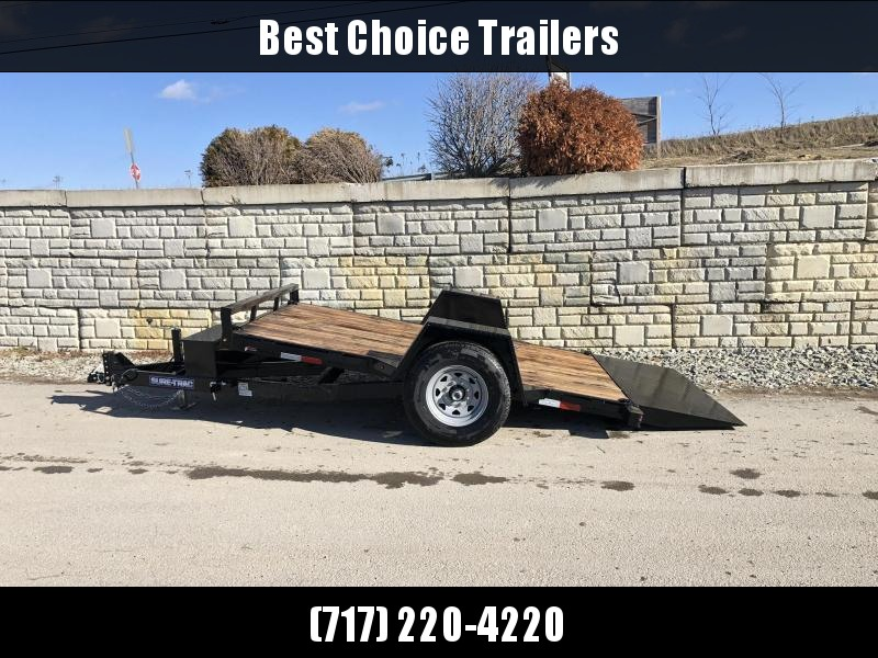 "2020 Sure-Trac 78""x12' 7000# GVW Tilt Equipment Trailer Scissor Hauler * OAK DECK * TOOLBOX"
