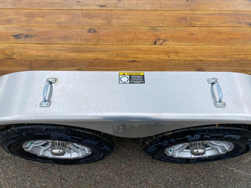 "2019 H&H 7x20' Aluminum Car Hauler Trailer 9990# GVW * HEAVY DUTY 8"" FRAME * EXTRUDED BEAVERTAIL * DROP LEG JACK * ALUMINUM WHEELS * REMOVABLE FENDERS * CHANNEL C/M * RUBRAIL * CLEARANCE"